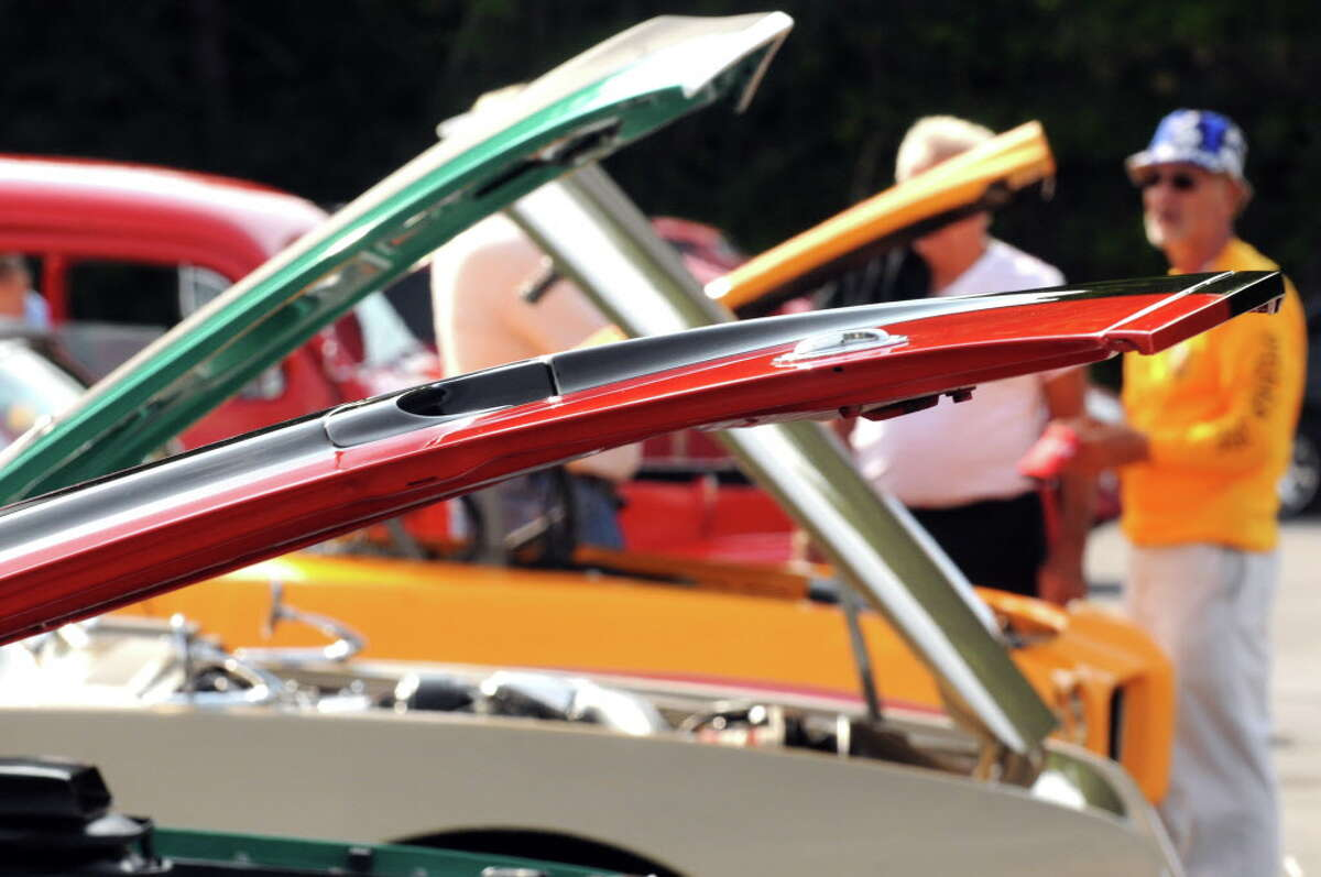 Antique and classic cars on display during the Times Union car show on Saturday Aug.15, 2014 in Colonie, N.Y. (Michael P. Farrell/Times Union)