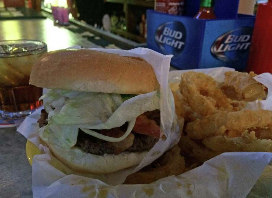The Bacon Bacon Burger is among the menu items available at Christian's Tailgate downtown. Photo: Syd Kearney