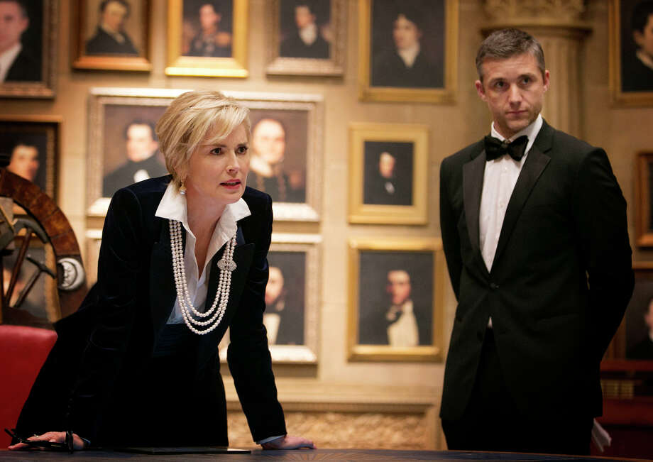 AGENT X Sharon Stone and Jeff Hephner star in TNT's action-adventure Agent X, premiering Nov. 8. Photo: James Dittiger / (C)2014 James Dittiger