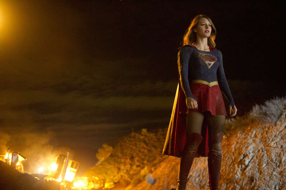 "In this image released by CBS, Melissa Benoist appears in a scene from ""Supergirl,"" premiering Oct. 26, on CBS. (Darren Michaels/CBS via AP) Photo: Darren Michaels, HONS / CBS ENTERTAINMENT"