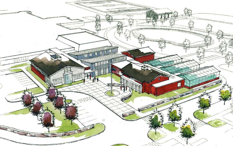 An artist's rendering depicts what Shepaug Valley School in Washington will look with a proposed agri-science addition as seen in this view from the northeast. Photo: Contributed Photo / The News-Times Contributed