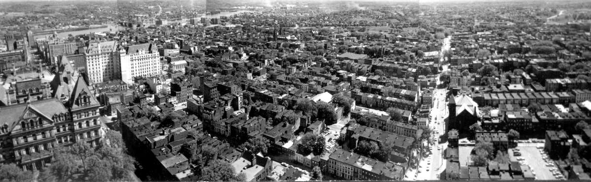 Albany with Capitol prior to construction of South Mall, 1960s, Albany, N.Y. (Times Union archive)