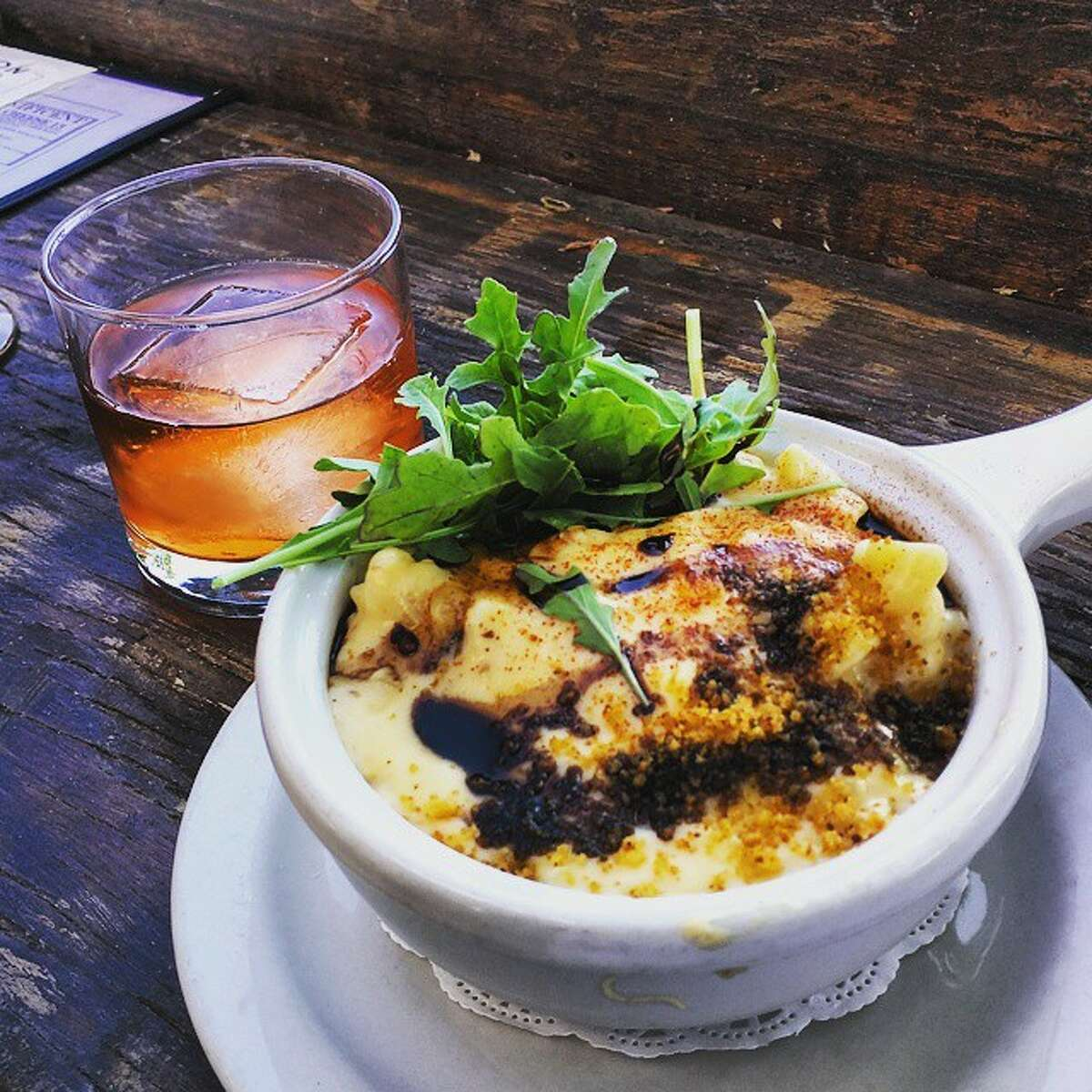 The Sexton, Ballard: The Sexton's mac and cheese occupies its own corner of the menu, offering you a choice of The Sexton Mac (pictured, with a bacon roux, five-cheese blend and balsamic reduction), pesto mac, chorizo mac, butternut squash mac and green chili mac. How on Earth do you choose?
