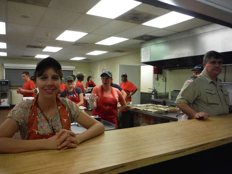 Boy Scout mom Jackie Snell prepares to lead the kitchen crew in dishing out plates of Troop 404é­s barbecue from 10 a.m. to noon and 5-8 p.m. Sept. 19 at Knights of Columbus Pearland Council 8960, 2320 Hatfield Road. Tickets for the 22nd annual barbecue fundraiser, $10, support maintenance of the troopé­s trailer, tents and other property and fund activities for the year. Contact Stacey Brown, troop404info@yahoo.com, or visit www.pearlandtroop404.org for details. Photo: Troop 404