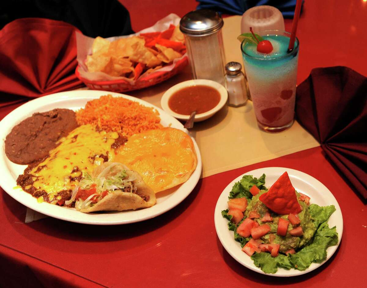 BEST MEXICAN DISHES, MENU ITEMS IN SAN ANTONIO:Jacala Mexican Restaurant - Best Enchiladas The #1 plate, which consists of a puffy taco, rice and beans, chile con queso, enchiladas and guacamole, is one of the most popular dishes at Jacala Mexican Restaurant.