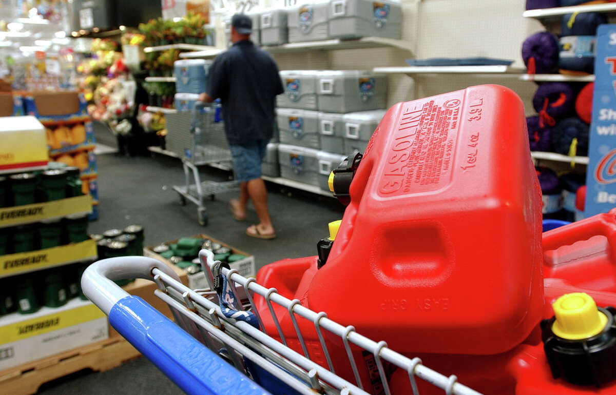 A Walmart store in Port Arthur placed emergency supply items near entrances to assist shoppers on Sept. 20, 2005.