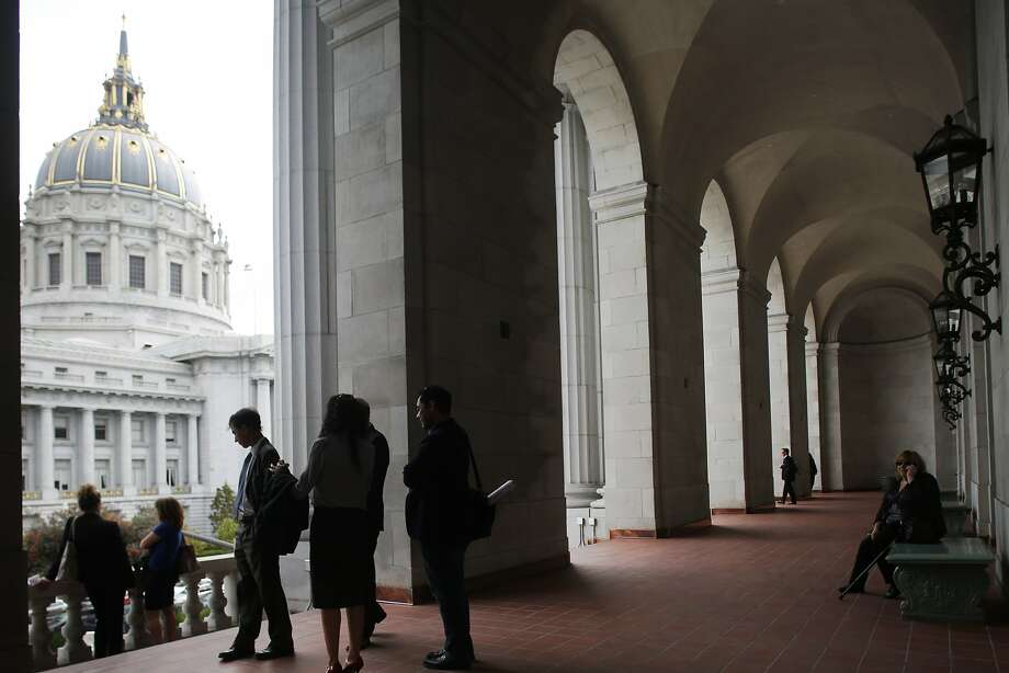 The balcony from the Green Room was open to the public after the historic War Memorial Veterans building was re-dedicated in a ceremony in San Francisco, Calif., on Wednesday, September 16, 2015. Photo: Liz Hafalia, The Chronicle
