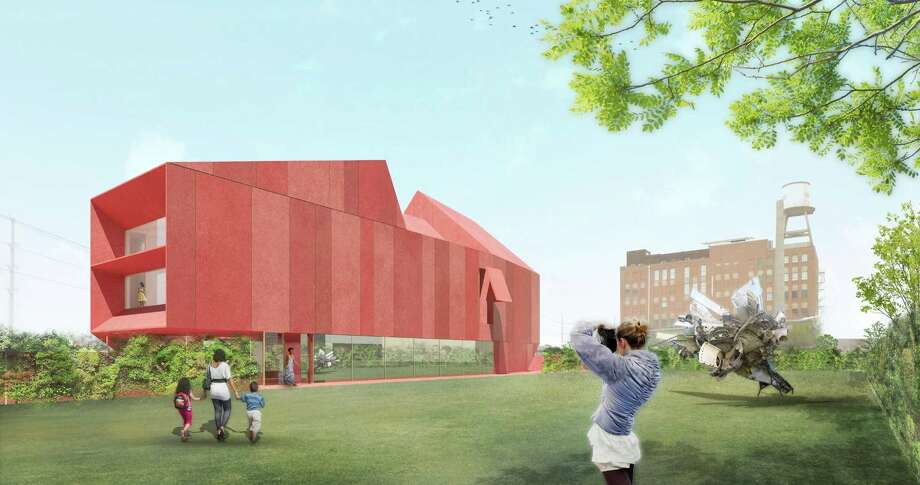 The $16 million Linda Pace Foundation museum, known as Ruby City for its red exterior, is designed by world-renowned architect David Adjaye. Oversize windows will have views of adjacent CHRISpark, built in 2005, a 1-acre public green space named in honor of Pace's son, who died in 1997, and of the city skyline. Photo: Courtesy Linda Pace Foundation