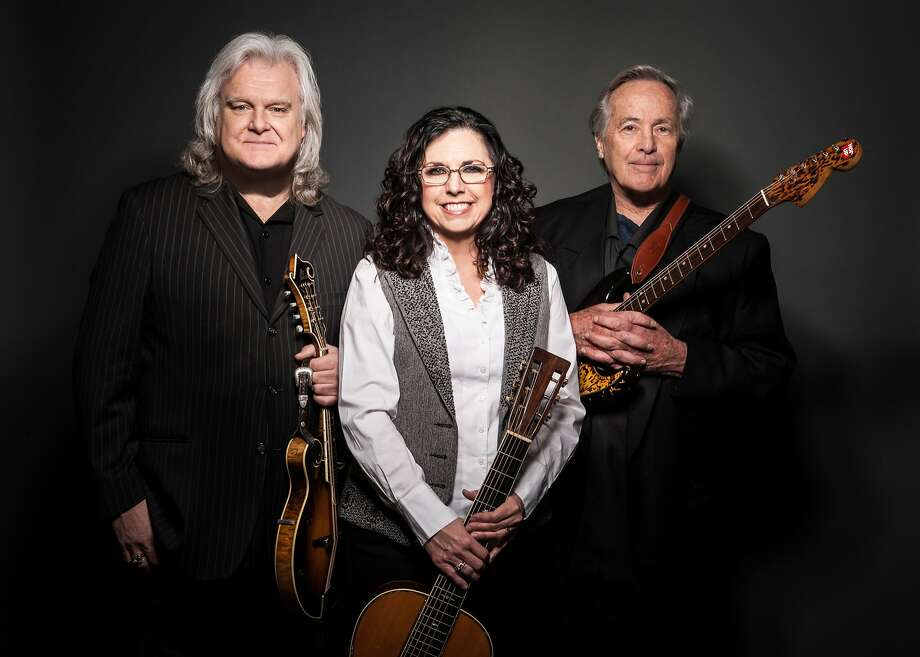 Cooder-White-Skaggs: Ry Cooder (right), Sharon White, Ricky Skaggs Photo: Absolute Publicity