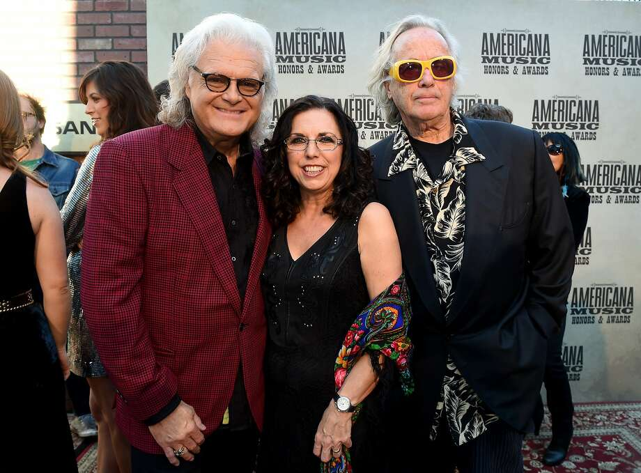 Ricky Skaggs (left), Sharon White and Ry Cooder attend the 14th annual Americana Music Association Honors and Awards Show at the Ryman Auditorium in Nashville on Sept. 16. Photo: Erika Goldring, Getty Images For Americana Music