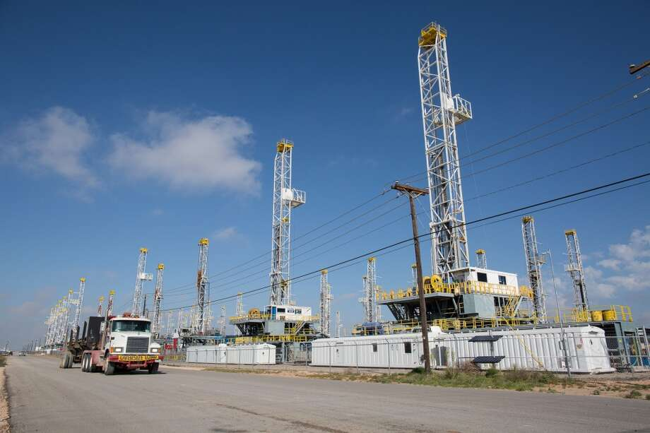 Tulsa drilling rig operator Helmerich & Payne decommissioned 37 rigs and laid off 2,800 people across the United States as a record oil bust caused by the coronavirus pandemic continues to take its toll, the company reported Friday. Photo: Associated Press