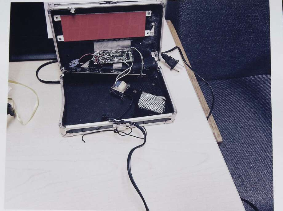 This is the clock that Ahmed Mohamed brought to school, alarming some teachers. Photo: HOGP / Irving Police