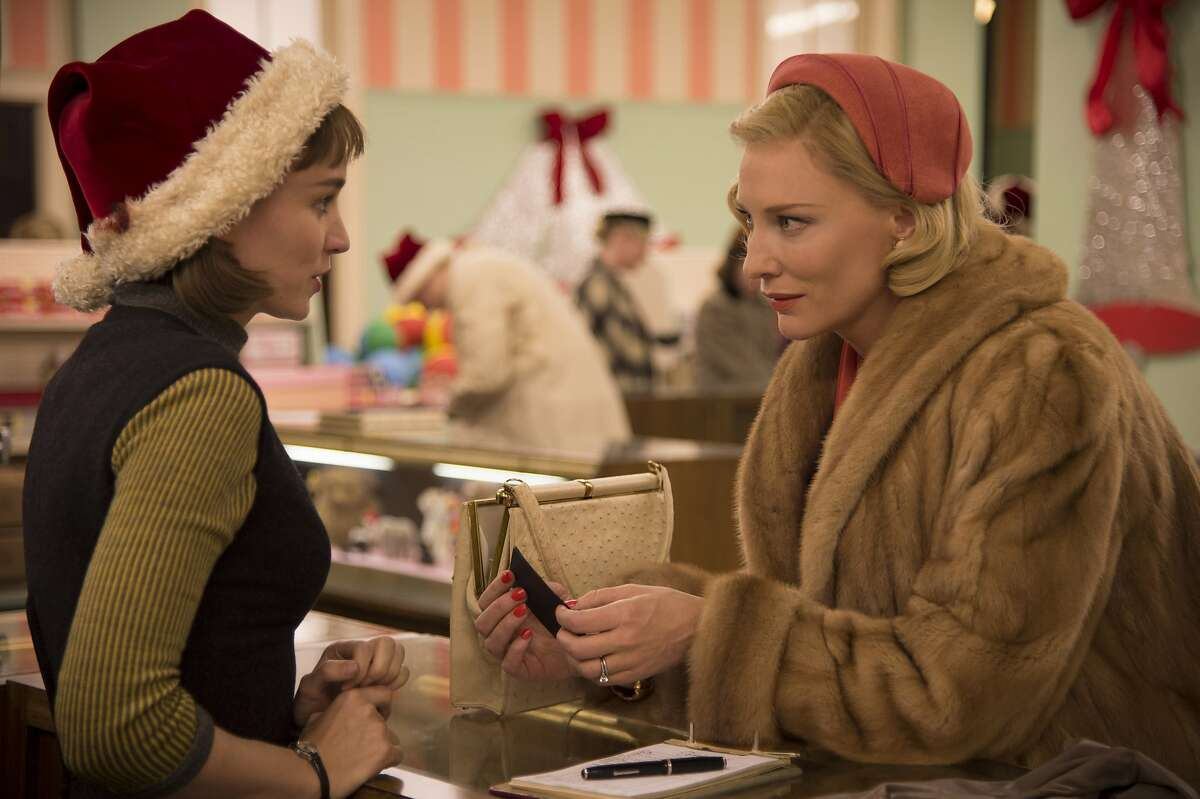 """Department store clerk Therese (Rooney Mara), left, becomes enchanted with Carol (Cate Blanchett) in the 1950s period piece, """"Carol."""" Credit: Mill Valley Film Festival"""