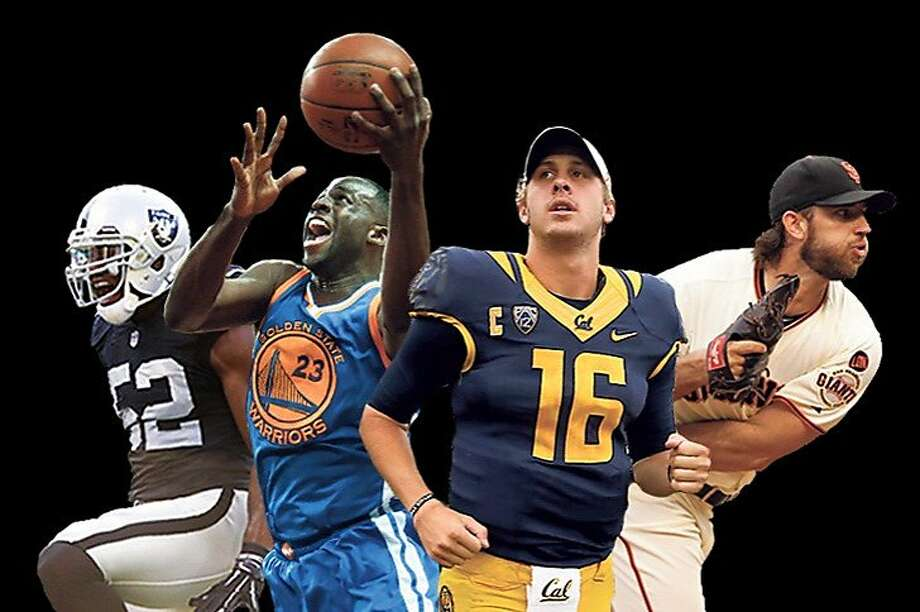 Kalil Mack, Draymond Green, Jared Goff and Madison Bumgarner are only four of the Bay Area athletes who get our blood pumping. Photo: Photo Illustration