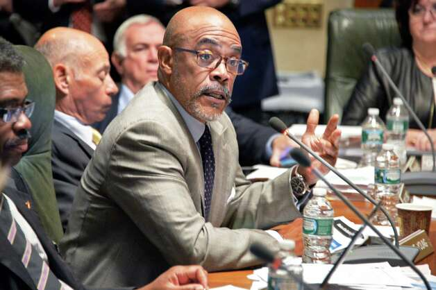 Regent Lester W. Young, Jr. speaks during a meeting of the  NY State Board of Regents at the State Education Building Wednesday Sept. 16, 2015 in Albany, NY.  (John Carl D'Annibale / Times Union) Photo: John Carl D'Annibale / 00033387A