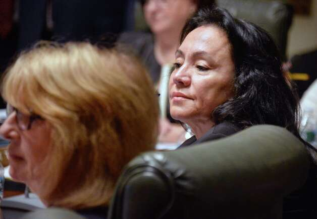 Regent Betty A. Rosa, right, during a meeting of the  NY State Board of Regents at the State Education Building Wednesday Sept. 16, 2015 in Albany, NY.  (John Carl D'Annibale / Times Union) Photo: John Carl D'Annibale / 00033387A