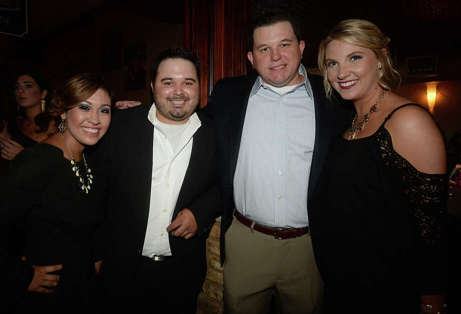Miranda Nunez, Michael Serna, David and Lauren Thieme were at the 7th annual Ubi Caritas Date Auction held Wednesday at Madison's.  Photo taken Wednesday, September 16, 2015 Photo by Kim Brent Photo: Kim Brent / Beaumont Enterprise