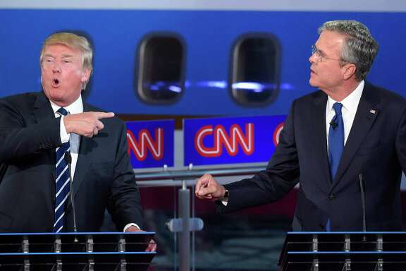 Donald Trump and former Florida Gov. Jeb Bush had several confrontations in Wednesday night's debate.