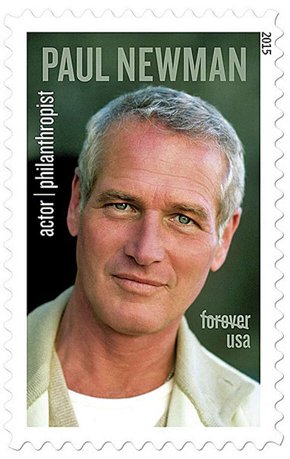 """On Friday, Sept. 18, 2015, the U.S. Postal Service will begin selling stamps of legendary actor and longtime Westport resident Paul Newman. The Oscar-winning superstar who personified cool as the anti-hero of such films as """"Hud,"""" """"Cool Hand Luke"""" and """"The Color of Money"""" had a second act as an activist, race car driver and popcorn impresario. Photo: U.S. Postal Service. Photo By Steve Schapiro"""