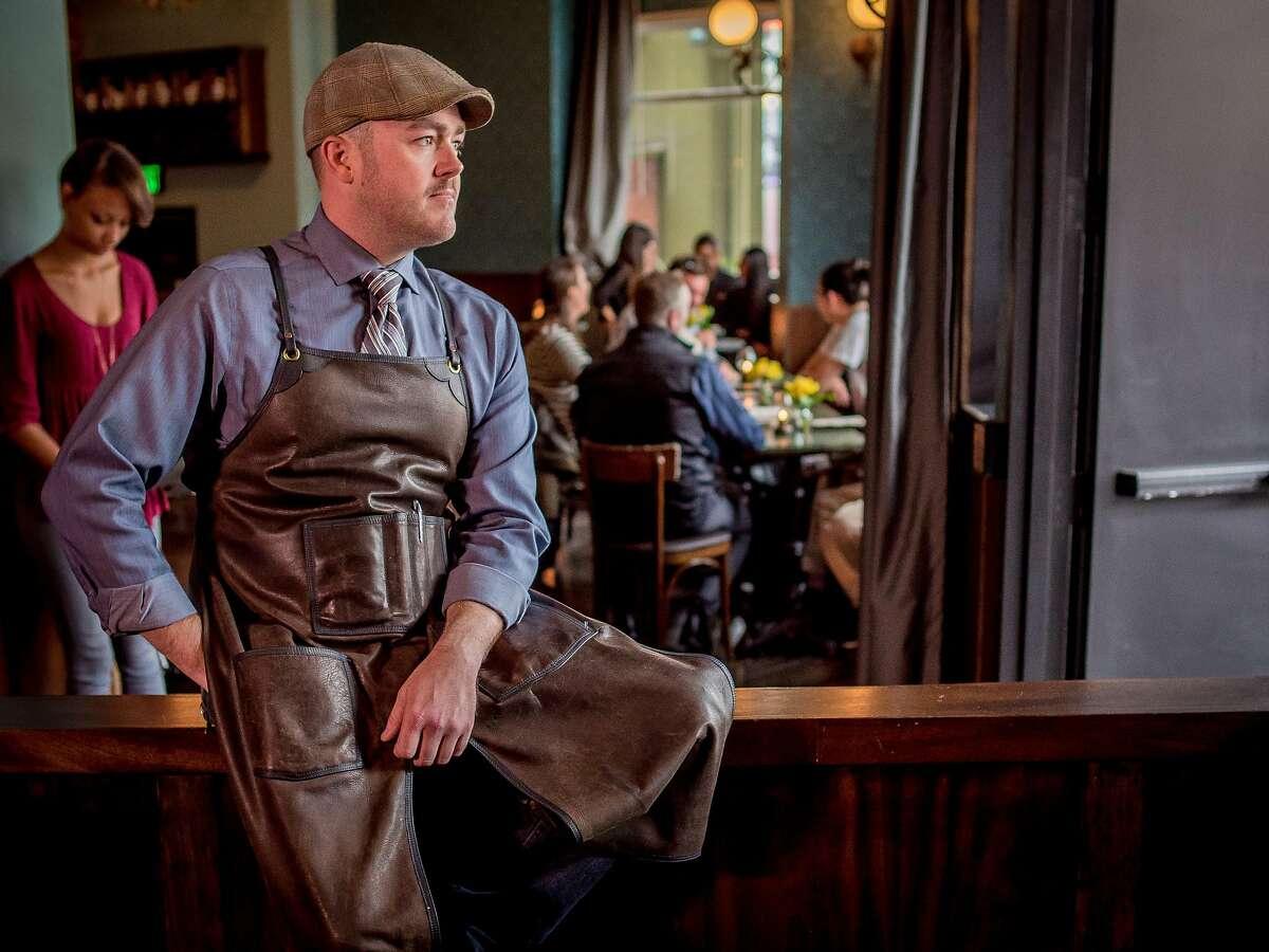Bar manager Darren Crawford at Devils Acre bar in San Francisco, Calif., is seen on September 16th, 2015.