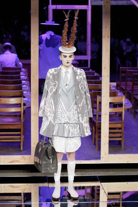 Designer Thom Browne created a spring 2016 collection inspired by the landscape, traditions and history of Japan. Photo: Joe Kohen, Stringer / 2015 Getty Images