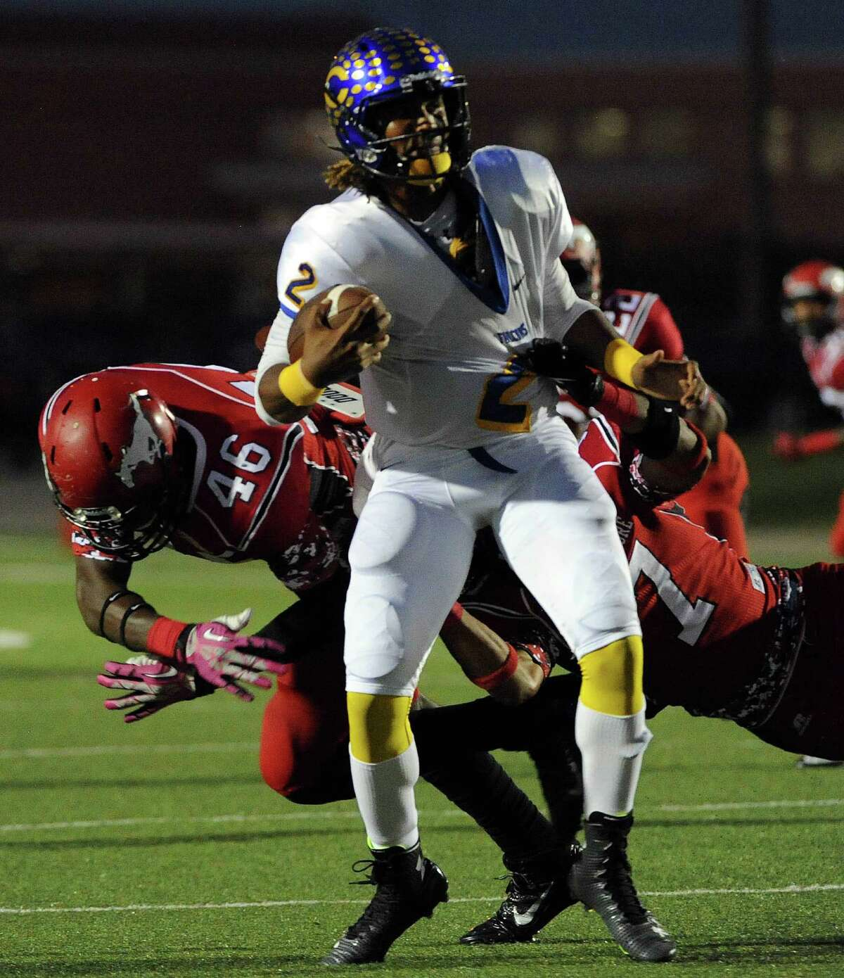 Quarterback Jalen Hurts, Channelview Height: 6-3, Weight: 208 Committed to: Alabama