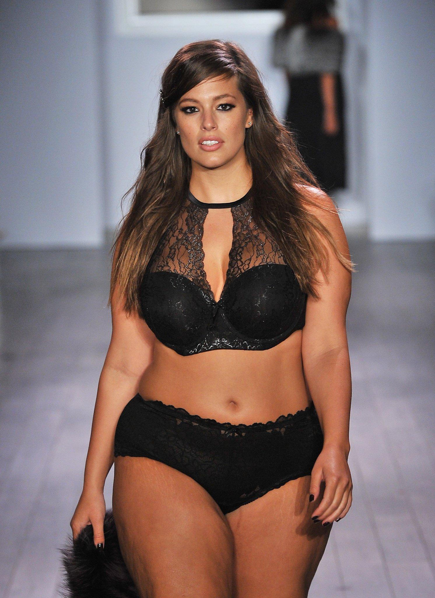 1122656318401 Plus-size model Ashley Graham debuts lingerie line at  NYFW - SFGate
