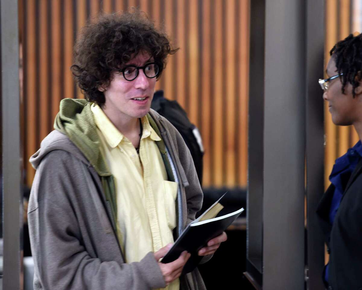 Leif Solem leaves Albany City Court smiling Thursday morning Sept. 17, 2015, in Albany, N.Y. The Albany County District Attorney?s Office said it would not prosecute him. (Skip Dickstein/Times Union)
