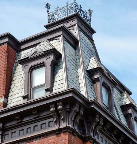 Roof detail of the building at the corner of North Manning Blvd & Second Street Friday August 7, 2015 in Albany, NY.  (John Carl D'Annibale / Times Union) Photo: John Carl D'Annibale / 00032936A