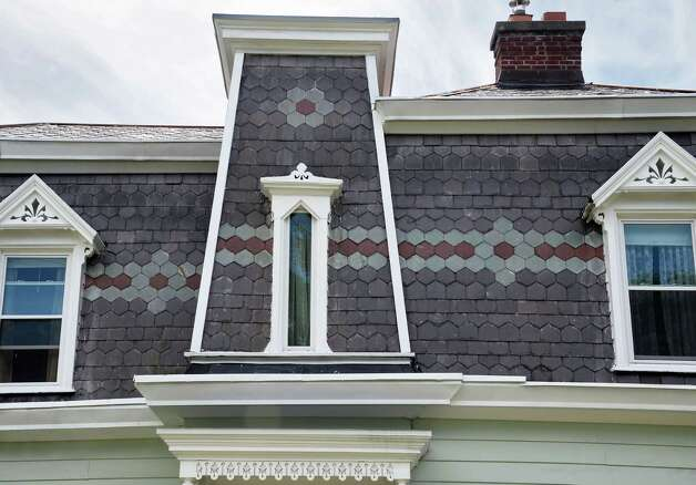 Roof detail at the home at 2 Collins Avenue Friday August 7, 2015 in Troy, NY.  (John Carl D'Annibale / Times Union) Photo: John Carl D'Annibale / 00032936A