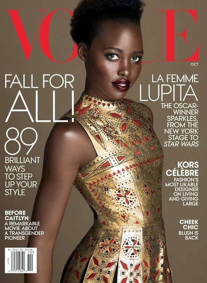Actress Lupita Nyong'o graces Vogue cover for October 2015.