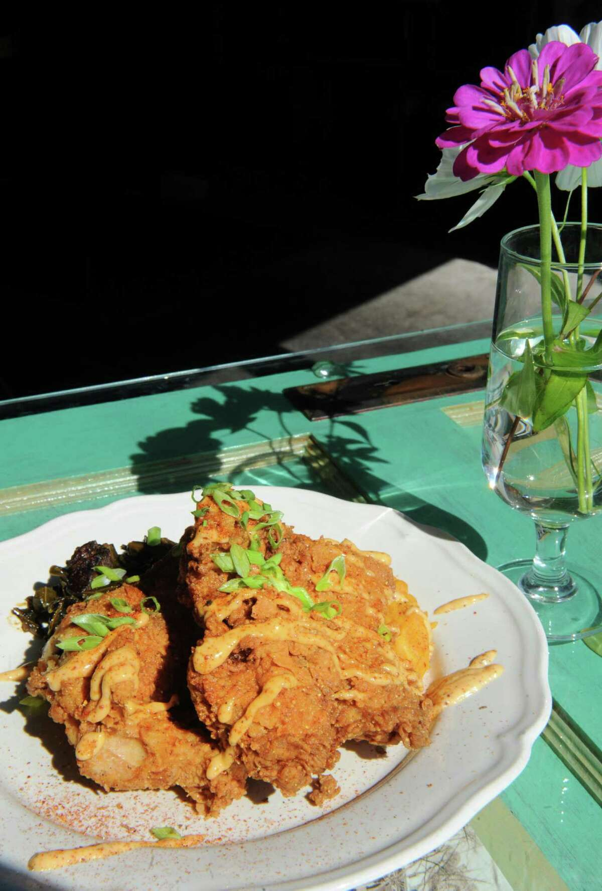 Mouzon House fried chicken at Mouzon House on Friday Sept. 11, 2015 in Saratoga Springs, N.Y. (Michael P. Farrell/Times Union)