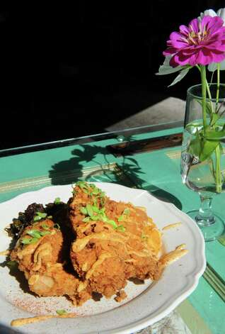 Mouzon House fried chicken at Mouzon House on Friday Sept. 11, 2015 in Saratoga Springs, N.Y.  (Michael P. Farrell/Times Union) Photo: Michael P. Farrell / 00033327A