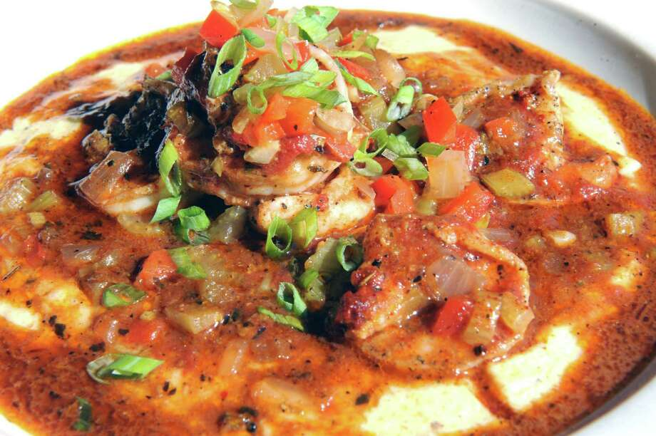 Shrimp and grits at Mouzon House on Friday Sept. 11, 2015 in Saratoga Springs, N.Y.  (Michael P. Farrell/Times Union) Photo: Michael P. Farrell / 00033327A