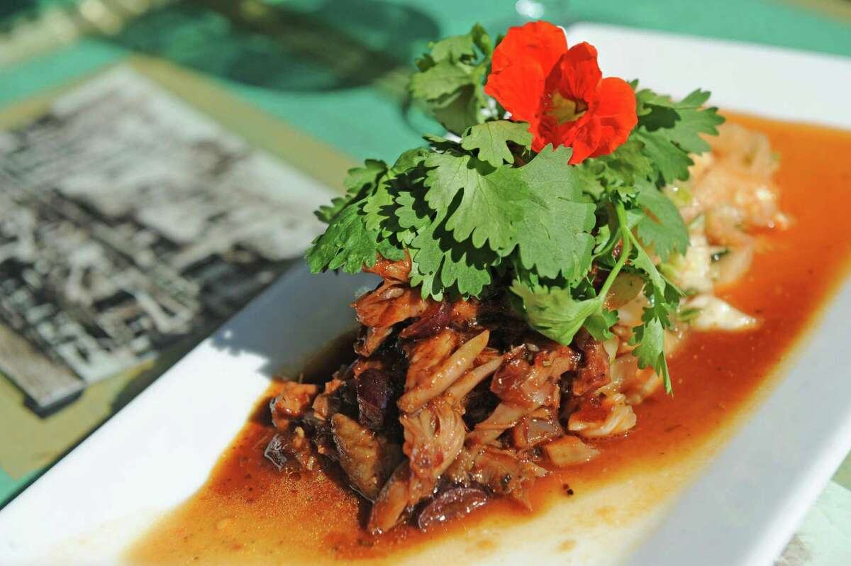 Pork belly kimchi at Mouzon House on Friday Sept. 11, 2015 in Saratoga Springs, N.Y. (Michael P. Farrell/Times Union)