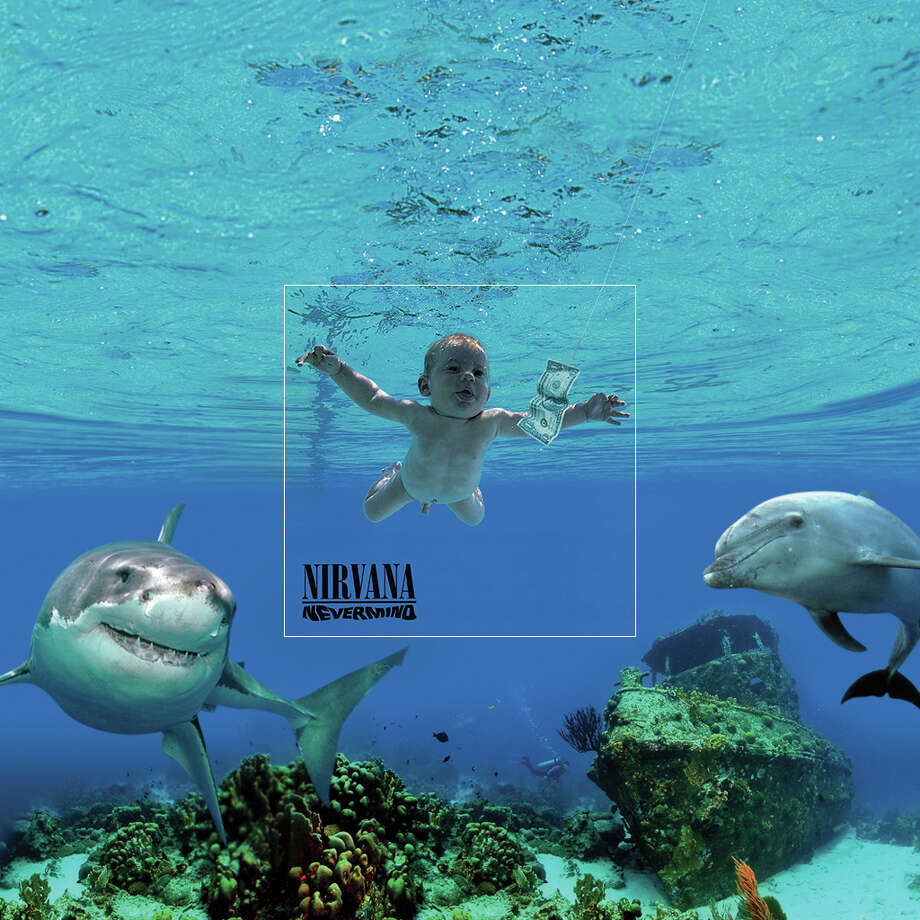 "Nirvana, ""Nevermind,"" 1991Nirvana's 'Nevermind' album artwork is undoubtedly one of the most iconic album covers ever created. At first, most will assume the baby is in a pool, but is he really? Photo: Via Aptitude.co.uk"
