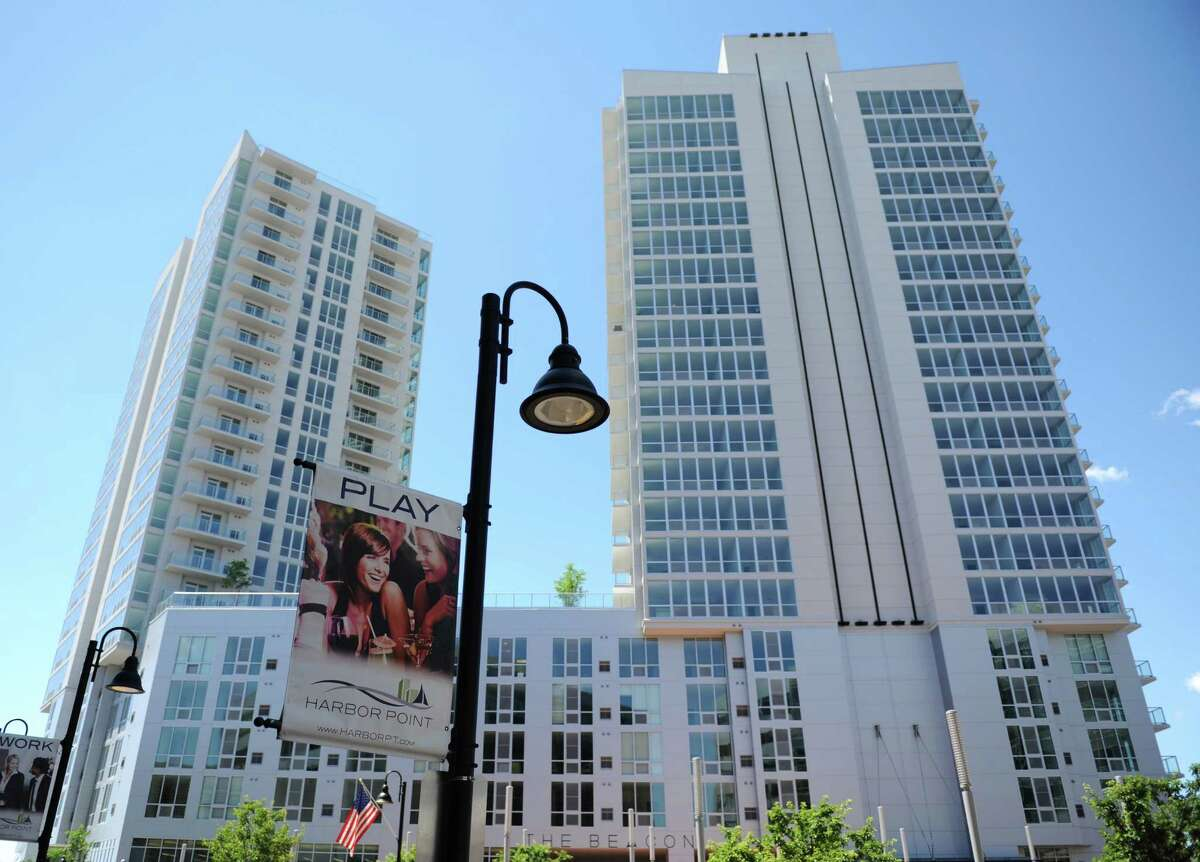 The Beacon apartment complex at Harbor Point is half full six months after opening.