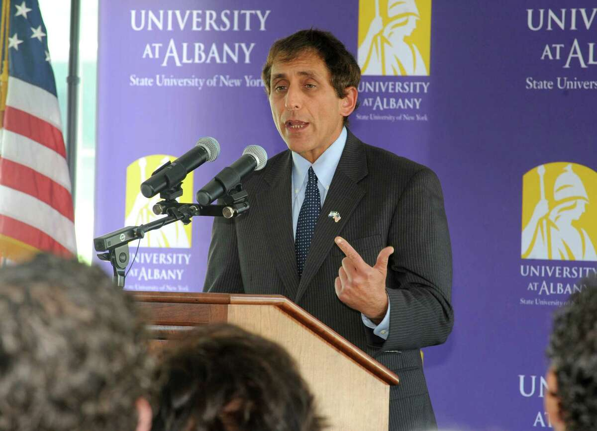 School of Business Dean Donald Siegel speaks during an event to honor the Massry family and their commitment to support and advance the University's School of Business at the University at Albany on Thursday, Sept. 17, 2015 in Albany, N.Y. (Lori Van Buren / Times Union)