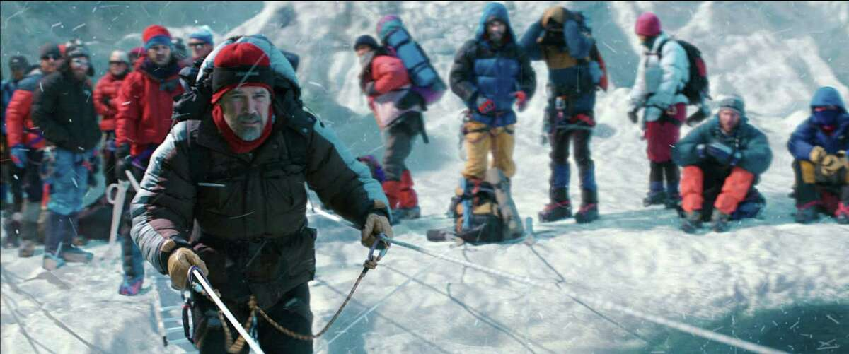 This photo provided by Universal Pictures shows, Josh Brolin as Beck Weathers, in the film ?
