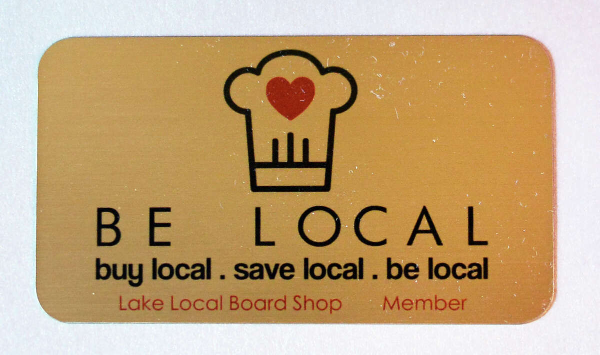 A freshly made Be Local loyalty card Tuesday Sept. 1, 2015 in Saratoga Springs, NY. (John Carl D'Annibale / Times Union)