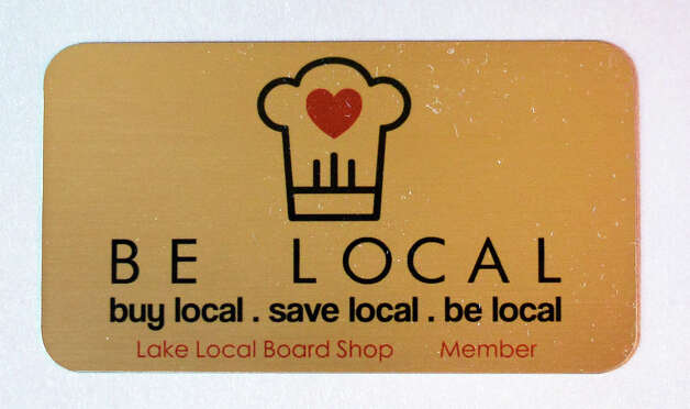 A freshly made Be Local loyalty card Tuesday Sept. 1, 2015 in Saratoga Springs, NY.  (John Carl D'Annibale / Times Union) Photo: John Carl D'Annibale / 00033162A