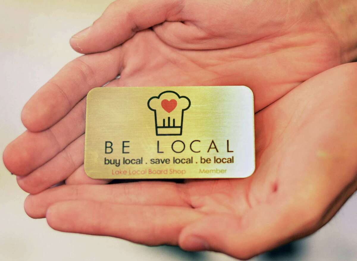 A Be Local loyalty card Tuesday Sept. 1, 2015 in Saratoga Springs, NY. (John Carl D'Annibale / Times Union)