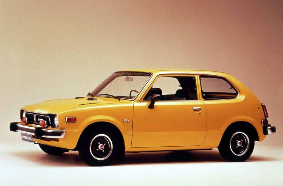 1973 honda civic orange