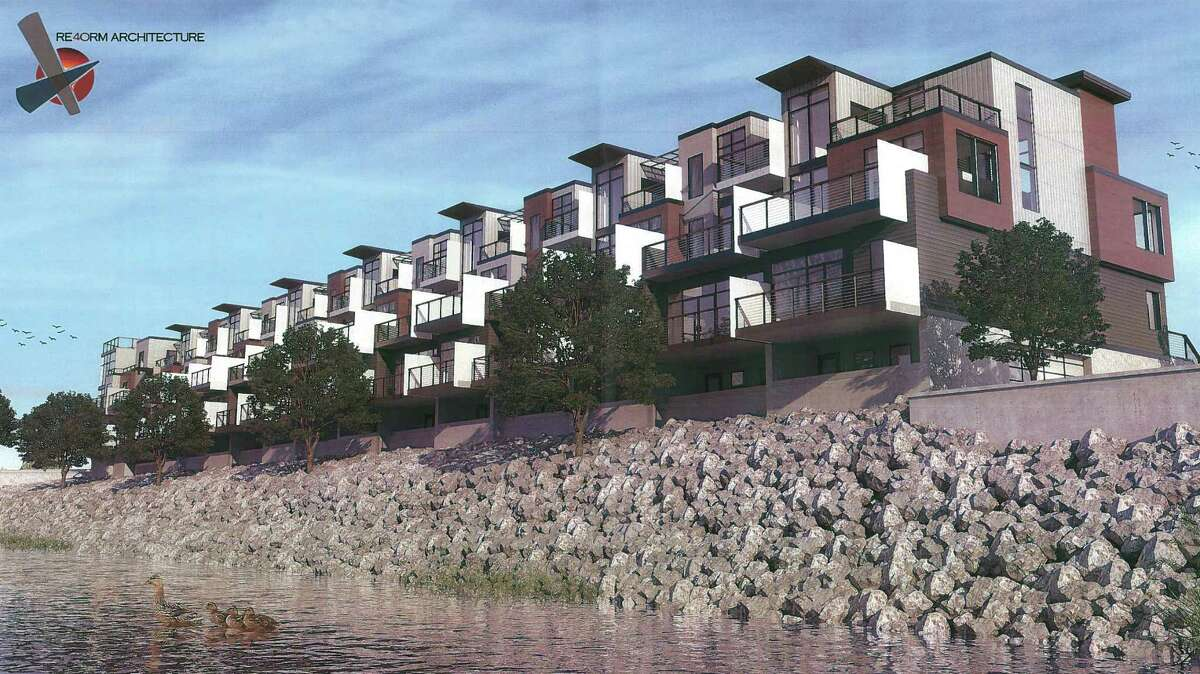 Rendering of town homes at Mohawk Harbor. (Galeis Group)