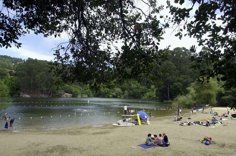 Lake Anza has been closed to swimming due  to the presence of toxic algae. Photo: Paul Chinn, SFC