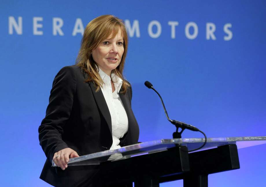 FILE - In this Oct. 1, 2014 photo, General Motors CEO Mary Barra addresses the Global Business Conference for investors in Milford, Mich. General Motors on Thursday, Sept. 17, 2015 said it will pay $575 million to settle hundreds of civil lawsuits filed against the company over faulty small-car ignition switches, including the bulk of pending wrongful death and injury cases. (AP Photo/Carlos Osorio, File) Photo: Carlos Osorio, STF / AP