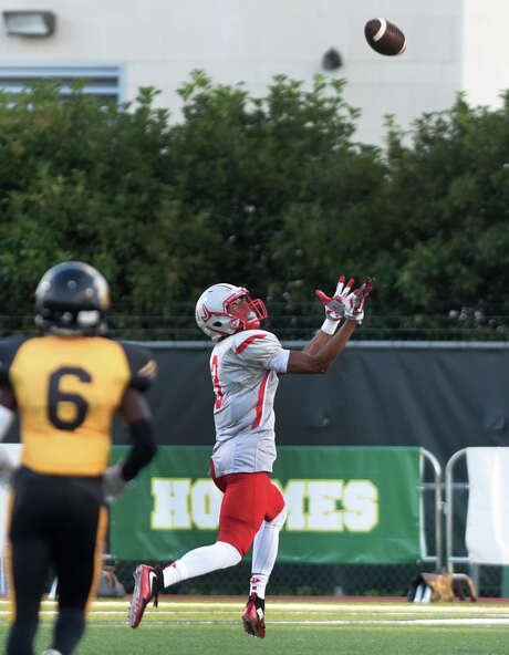 Judson wide receiver Greg Craddock catches a first-half touchdown pass against Brennan at Farris Stadium on Sept. 17, 2015. Photo: Billy Calzada /San Antonio Express-News / San Antonio Express-News