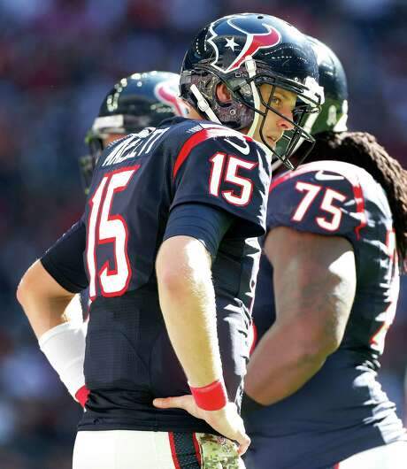 Ryan Mallett possesses a look of determination in the wake of overcoming second-string status to become the starting quarterback this week for the Texans. Photo: Karen Warren, Staff / © 2014 Houston Chronicle