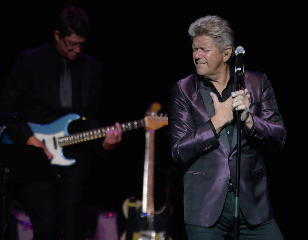 """Peter Cetera performs Thursday evening at the Majestic Theater.Grammy Award-winning singer/songwriter Peter Cetera delivered his timeless music at the Majestic Theatre on Thursday. Joined on stage by Bad Daddys, Cetera performed such hits as """"Glory of Love"""" and """"If You Leave Me Now"""" from his days with the band Chicago and from his almost 30-year solo career"""