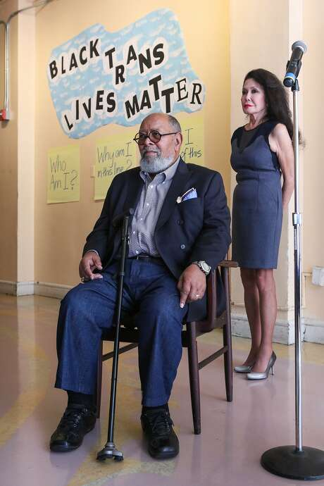 Reverend Cecil Williams and Jan Mirikitani listen as clients discuss the positive impact that Glide Memorial Church has had on their lives, in San Francisco, California on Thursday, September 17, 2015. Jan Mirikitani will be receiving a Community Leadership Award from the San Francisco Foundation at Bay Area Bold. Photo: Gabrielle Lurie, Special To The Chronicle